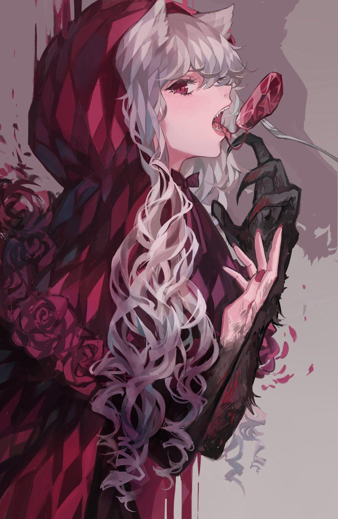 Kane On Twitter Anime Wolf Girl Anime Wolf Red Riding Hood Art