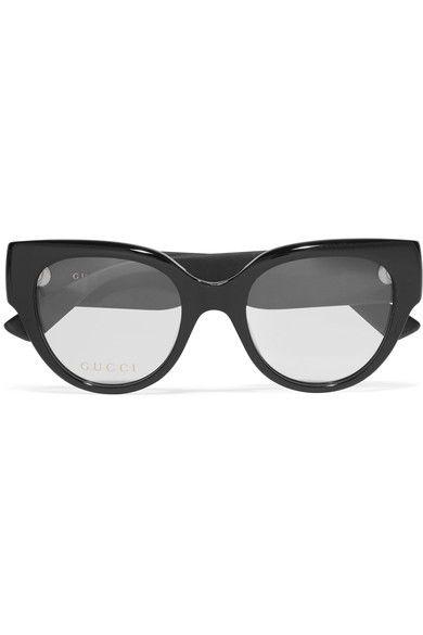 96c3eabf73 GUCCI Cat-Eye Glittered Acetate Optical Glasses.  gucci  sunglasses ...