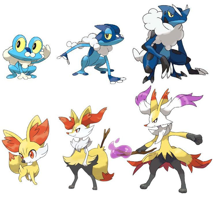 actually these are the final evolutions for froakie and