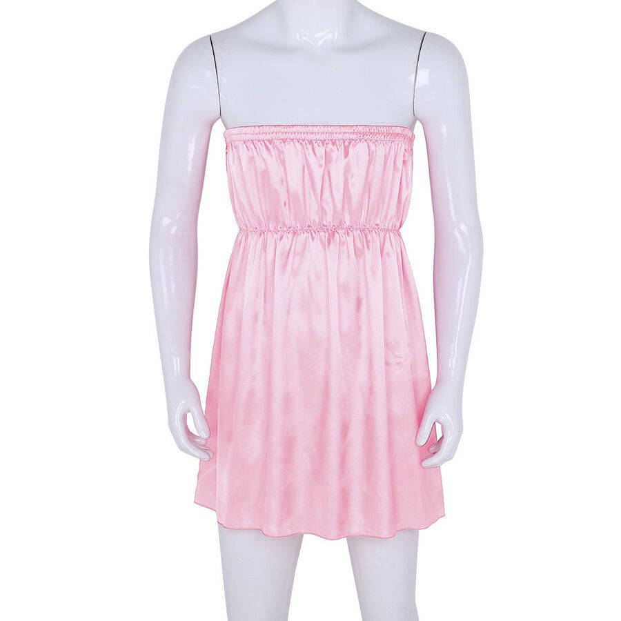 Men/'s Sissy Lace Skirt Short Dress Silky Satin Babydoll Costume Cute Sleepwear