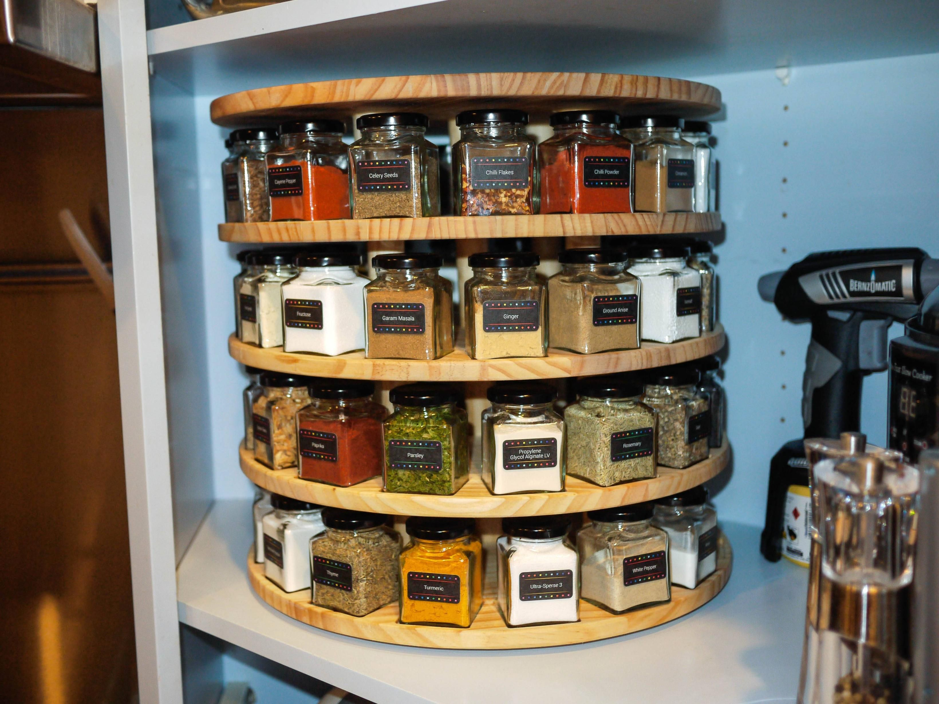 Lazy Susan Spice Rack Prepossessing Spice Rack  Pinterest  Diy Woodworking Woodworking And People Design Ideas