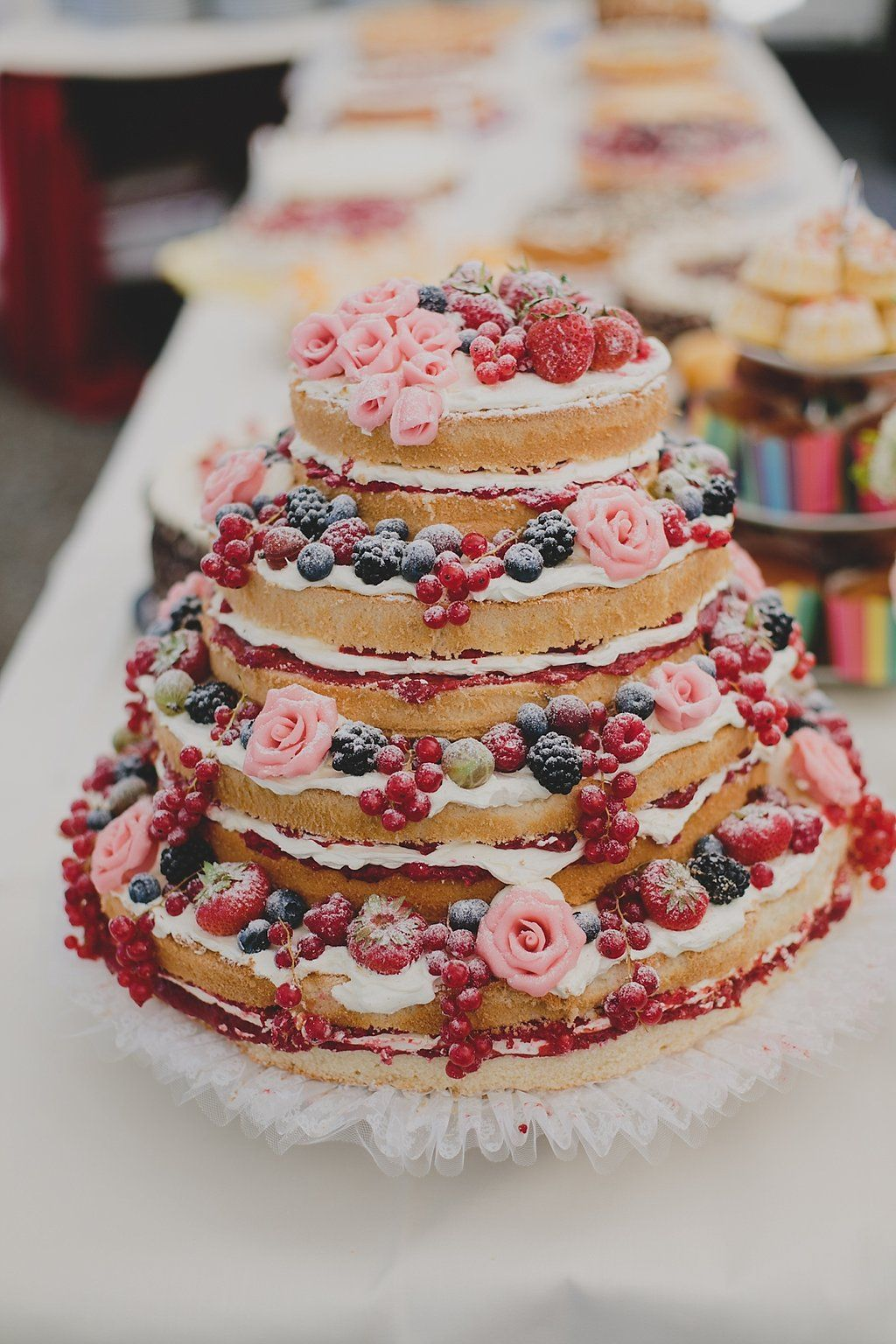 Bunte Diy Sommerhochzeit Cakes Wedding Wedding Cakes Diy Wedding