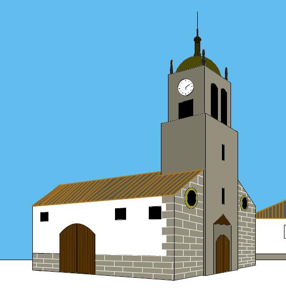 Es Un Dibujo De La Iglesia De Mi Pueblo Villanueva De Cordoba Realizado Con Sumo Paint La Aplicacion Es Bastante Completa Y Tipos De Dibujo Iglesia Cordoba