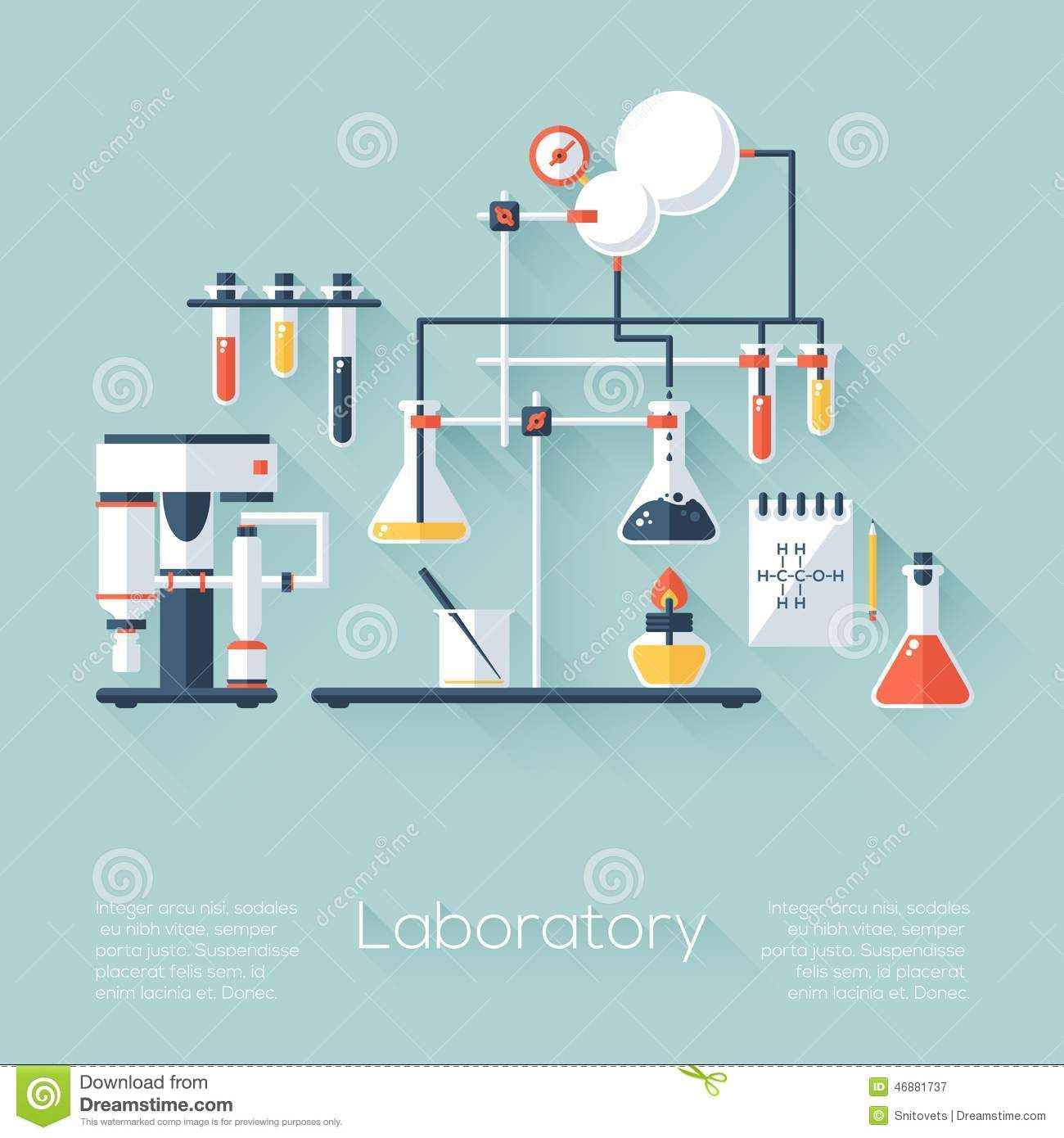 Education Background With Laboratory Vector Vector Art