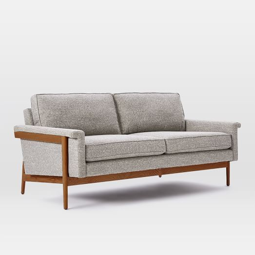 Leon Wood Frame Sofa | West Elm $799 On Sale Now $999 Regular
