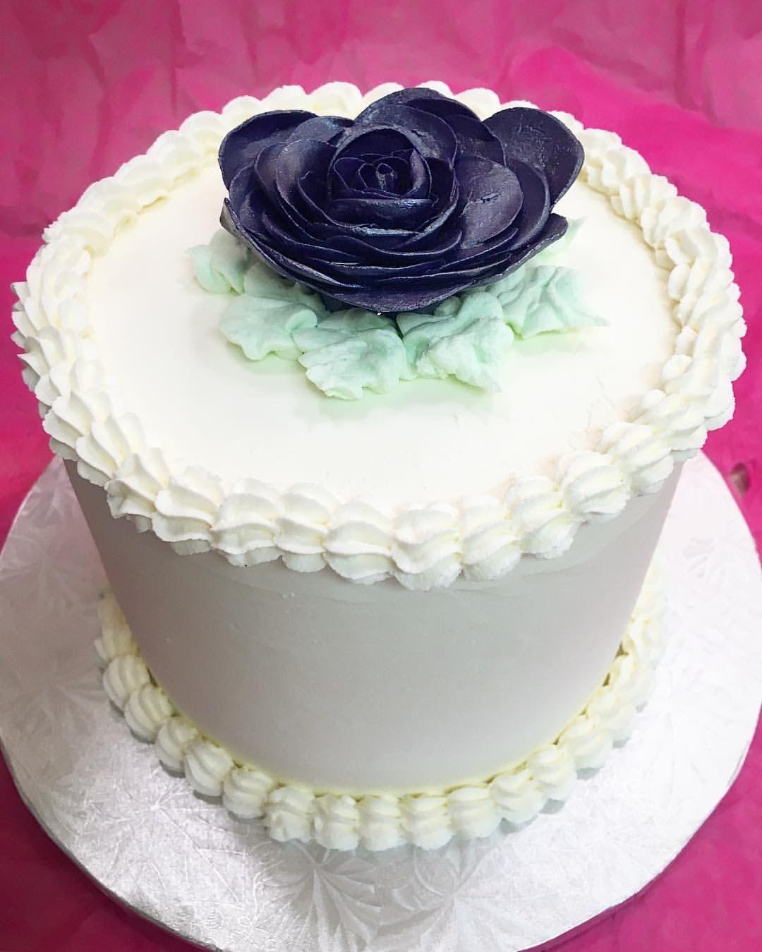 Wedding Cake with Plum Rose | Custom Cakes | Pinterest | Custom cake ...