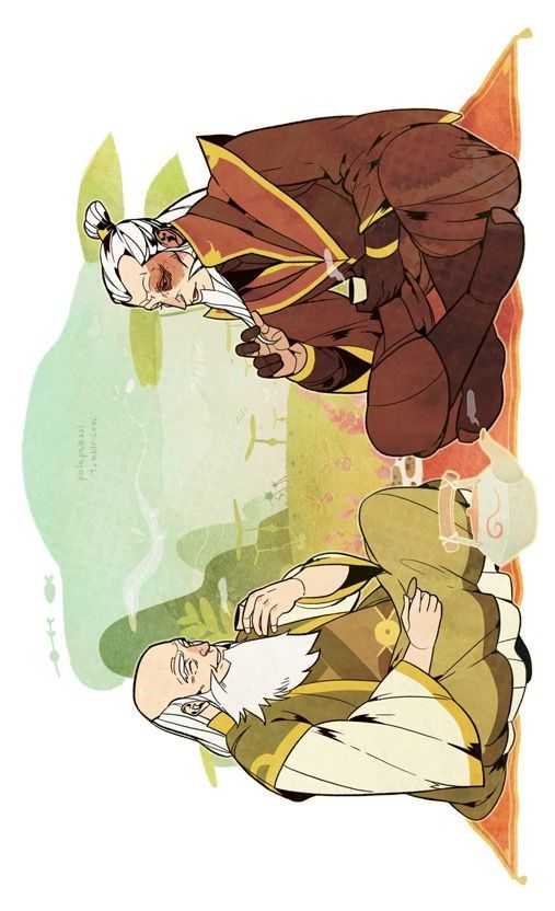 Zuko and Iroh. Tell me everything... - #cartoon #Iroh #Zuko #avatarthelastairbender
