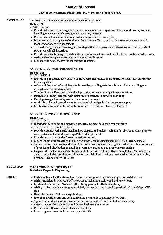 Sales Representative Resume Description Unique Sales