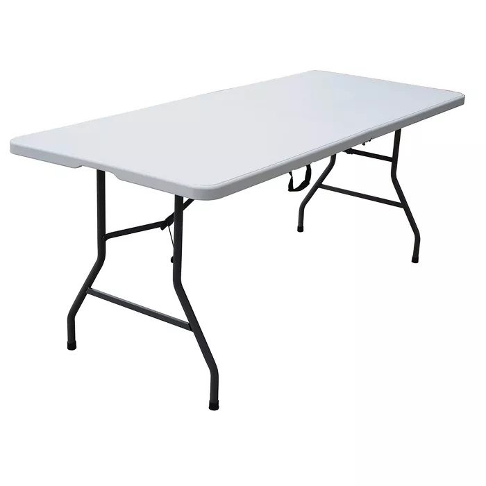 6 Folding Banquet Table Off White Plastic Dev Group In 2020