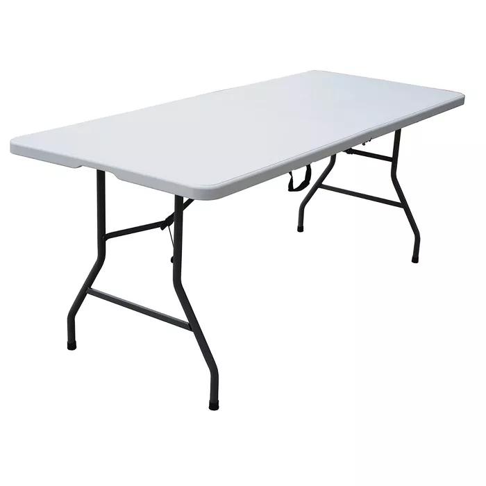 6 Folding Banquet Table Off White Plastic Dev Group In 2020 Folding Table Stylish Chairs Banquet Tables