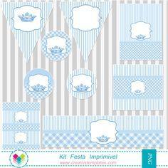 Kit Festa Principe Mod 57 Baby Shower Labels Baby Boy Scrapbook Baby Shower Princess