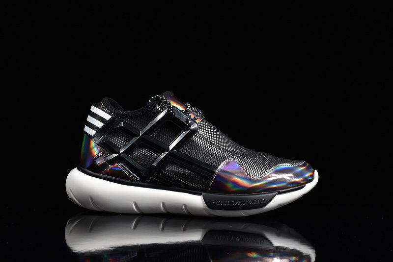 593e0cc2c71a 2018 Official Adidas Y3 Qasa High Yohji Yamamoto Black White Multi Color