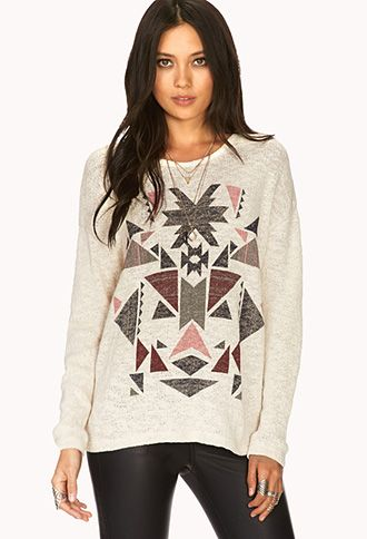 Worldly Open-Knit Sweater | FOREVER 21 - 2000065228 ...
