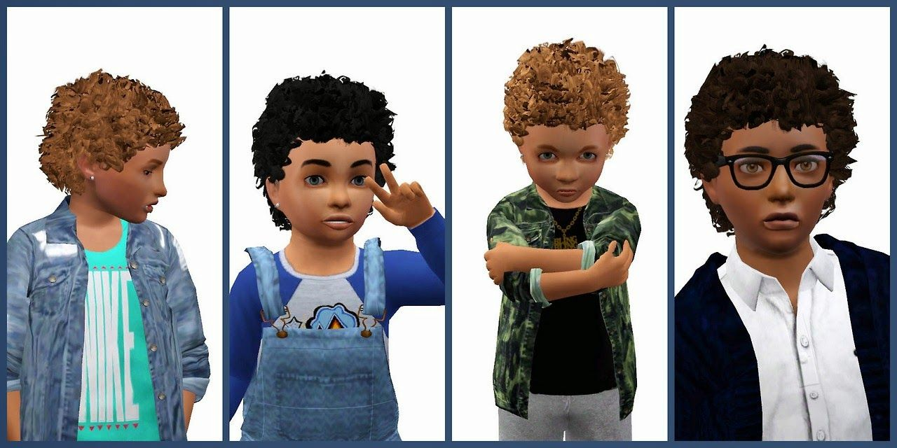 My Sims 3 Blog Hystericalparoxysm S Cherub Curly Hair Remake For Toddlers Children By Yosimsima Sims Hair Sims Curly Hair Styles