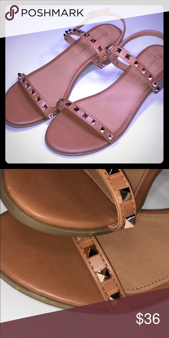 86de7cd8cc5 Vegan Leather · Valentino · Block Heels · Camel · Studs · Inspired · Loafer  Flats · Studded flat sandals NWT studded flat sandals. 1 1 2 in. Block heel