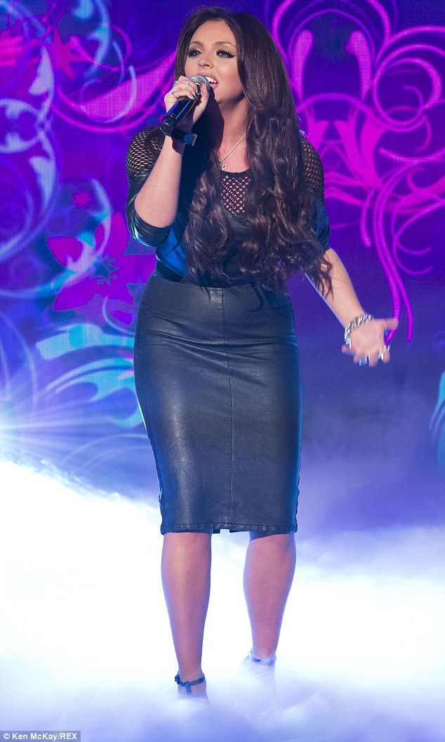 Jesy Nelson steps out in leather skirt | Leather, Skirts and Chang'e 3