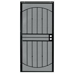 First Alert Apollo Steel Security Door in Black Finish ...