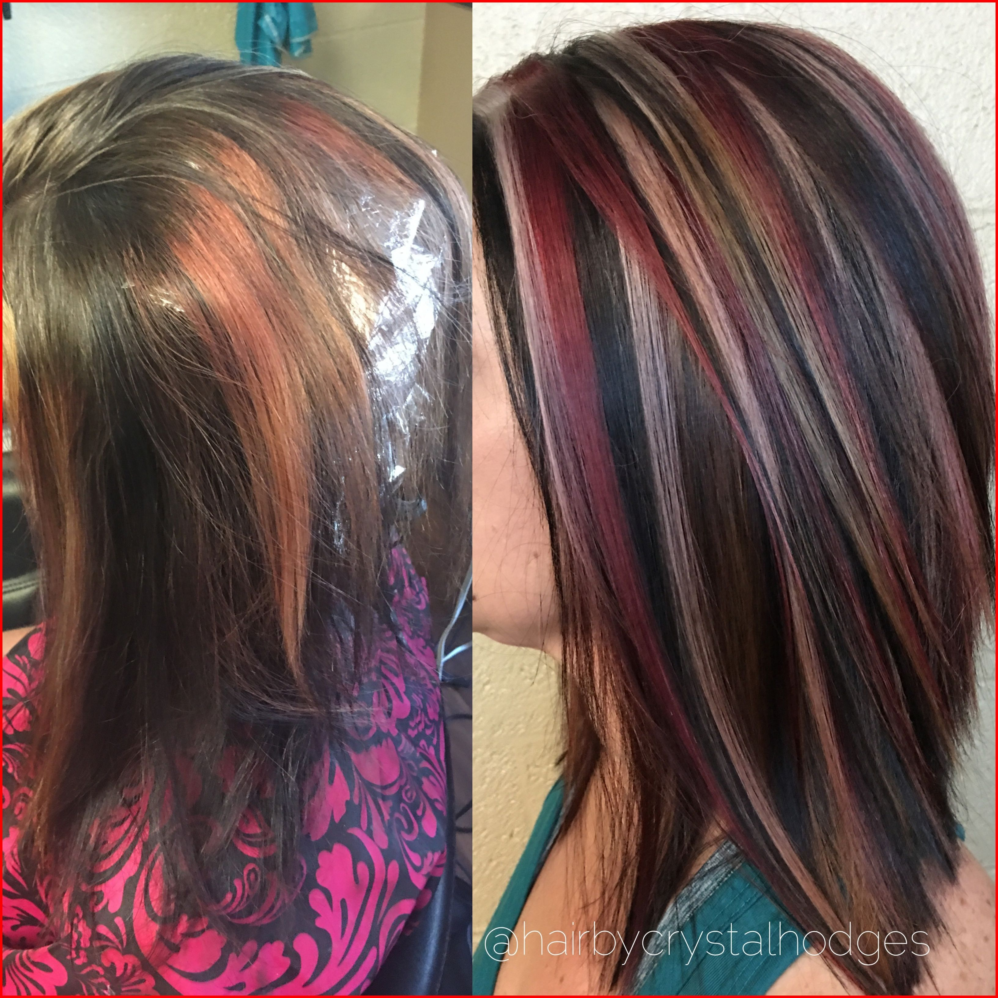 Foil Hair Color 182886 Blonde Red Brown Hair Color Chunky