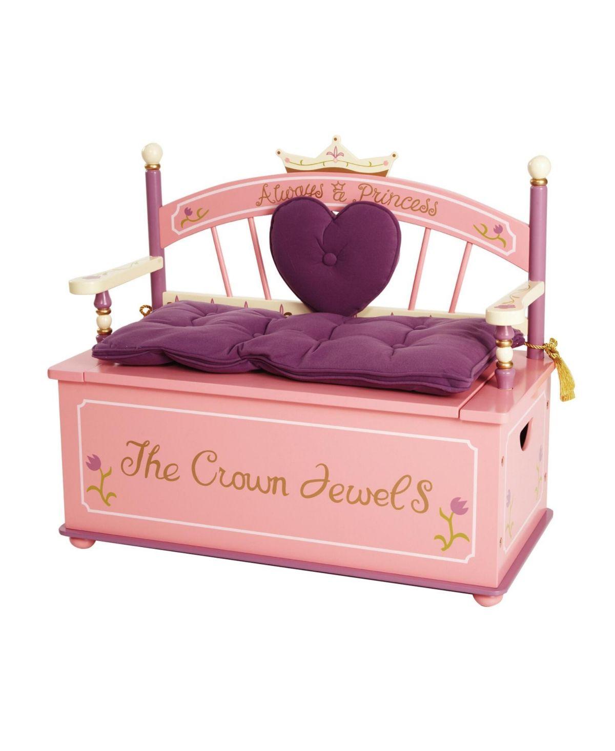 Wildkin Princess Bench Seat With Storage Reviews Kids Macy S Storage Bench Seating Kids Bedroom Organization Princess Kids