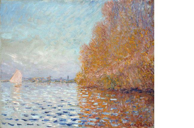 Argenteuil Basin With A Single Sailboat Claude Monet 1874