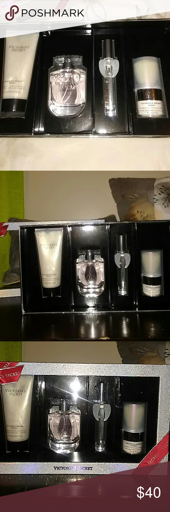 Women's Victoria's Secret Angel parfume set bnwb Includes: body wash, traveling tube, shimmer powder and full bottle of 1.7 oz. Never used was a gift Victoria's Secret Other
