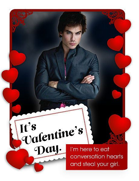 The Vampire Diaries Tv Show Photo Card Day Of St Valentine Vampire Diaries Vampire Valentines
