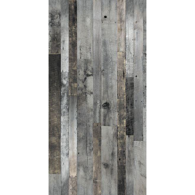 Revêtement mural imitation bois de grange, 48\