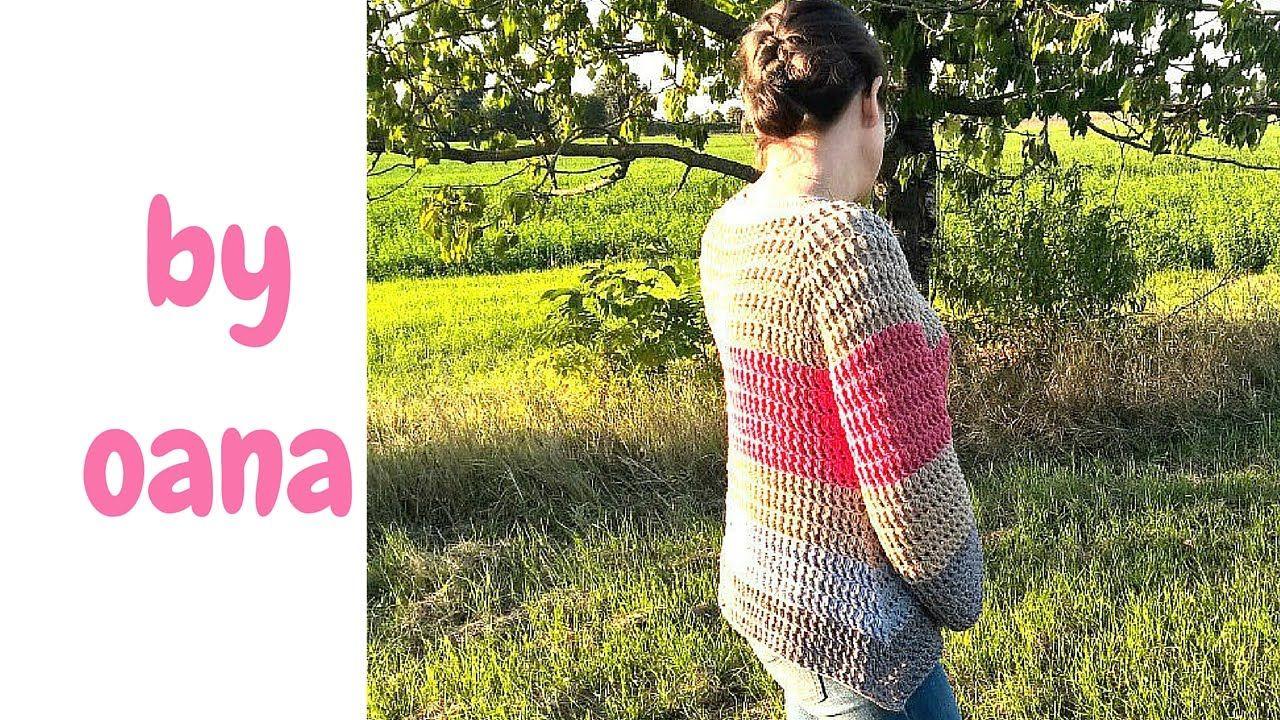 957da3cffdff crochet top down pullover