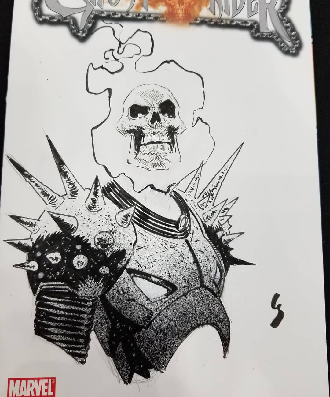 Ghost Rider Con Sketch Comicpalooza2018 Marvelcomics Cosmicghostrider Ink Ghost Rider Tattoo Ghost Rider Drawing Ghost Rider