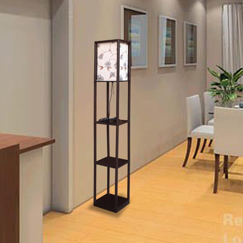 How To Make A Diy Floor Lamp Light Fixtures Design Ideas In 2020 Diy Flooring Diy Floor Lamp Floor Lamp With Shelves