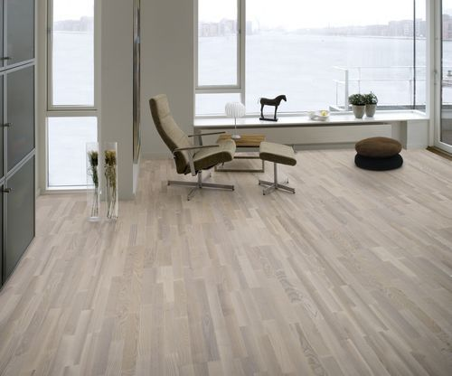Ash Engineered Hardwood Floor Whitesand Junckers Industrier As