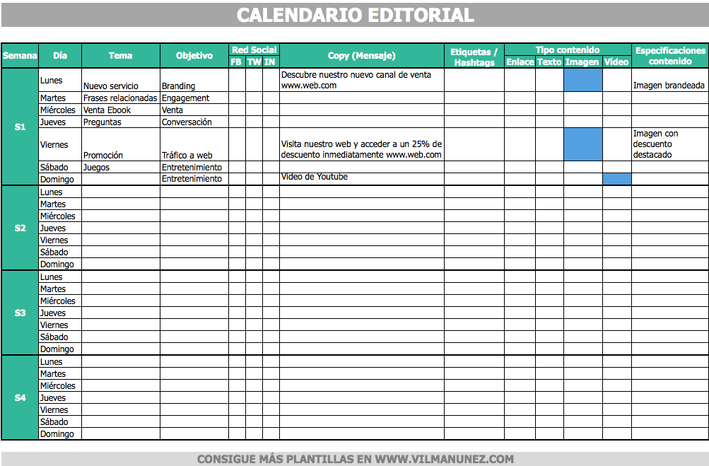 calendario editorial redes sociales | Industrial Design / Diseño ...