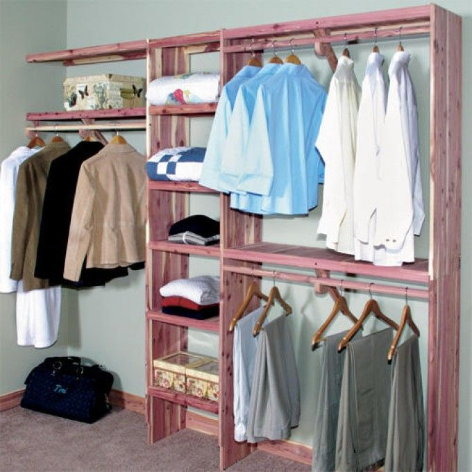 Deluxe Solid Cedar Closet Wall Kit Home Accents