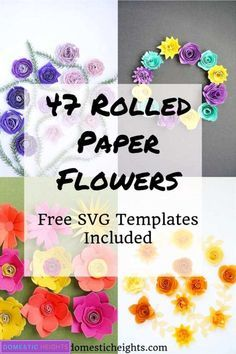 Rolled Paper Flowers - DOMESTIC HEIGHTS