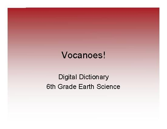 Teacherlingo Com 3 99 Volcanoes 6th Grade Earth Science Dictionary Pdf This Workbook Is A Useful Add Earth Science Vocabulary Building Literacy Skills