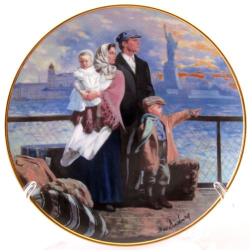 Ellis Island, Gateway to America collector plate 1991
