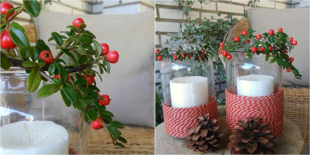 Un paso a paso sencillo para crear un centro de mesa con velas, algunas plantas y un poco de cuerda. http://a.facilisimo.com/v2/1902577?fba