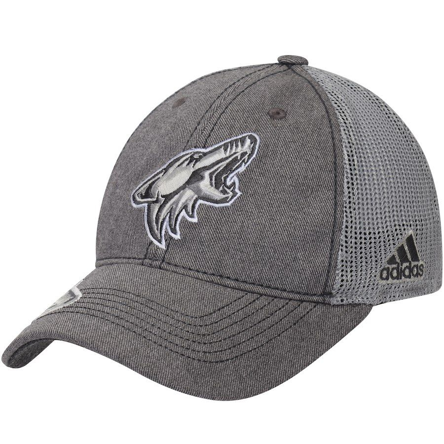 best service e3102 9c033 Men s Arizona Coyotes adidas Gray Travel   Training Slouch Adjustable Hat,  Your Price   26.99