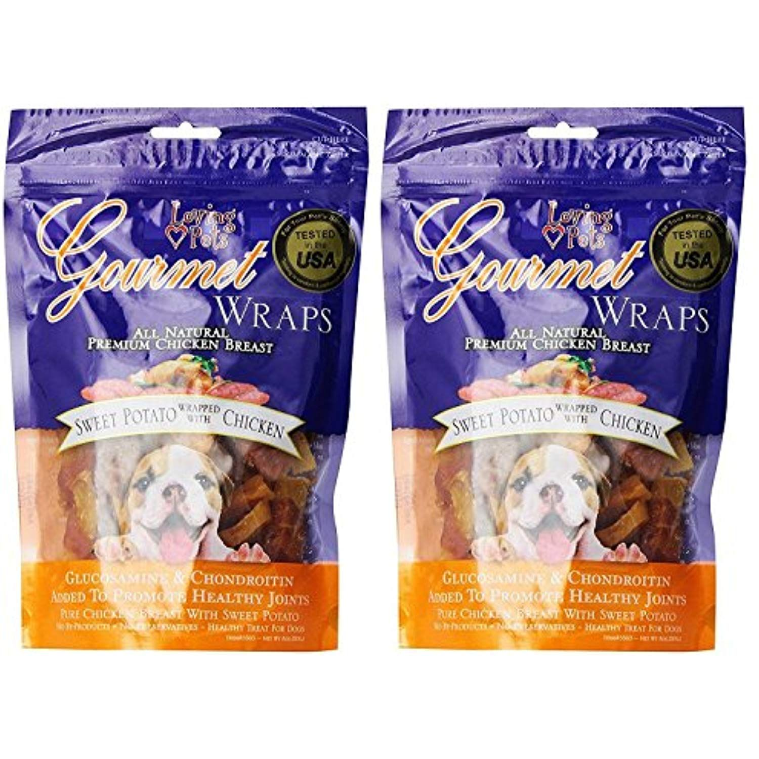 Loving Pets Gourmet Sweet Potato And Chicken Wraps Dog Treats With Glucosamine And Chondroitin 2 C Sweet Potato Wrap Dog Snacks Chicken Sweet Potato