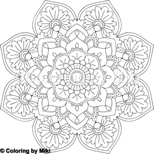 Flower Mandala Coloring Page 2 Mandala Coloring Pages Mandala Coloring Coloring Pages