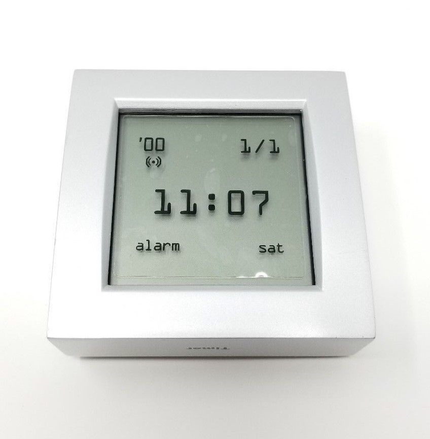 Brookstone 4 Function Upside Down Clock Thermometer World