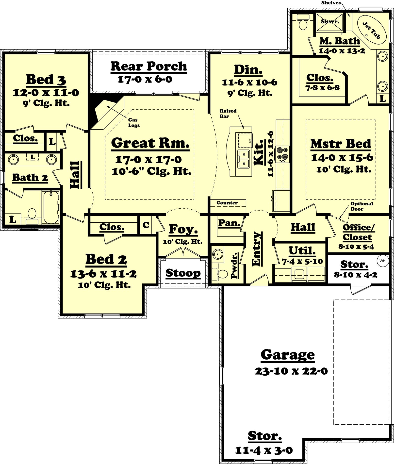 Craftsman Style House Plan   Beds Baths Sq Ft Plan      Craftsman Style House Plan   Beds Baths Sq Ft Plan     Floor Plan   Main Floor Plan   Houseplans com   Dream Home   Floor Plan   Pinterest