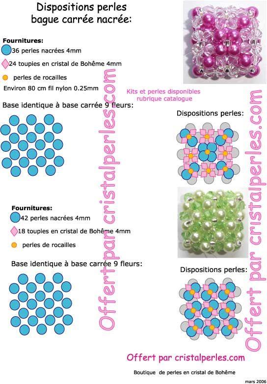37 idées de Schémas bagues perles de rocailles   bague perle ...