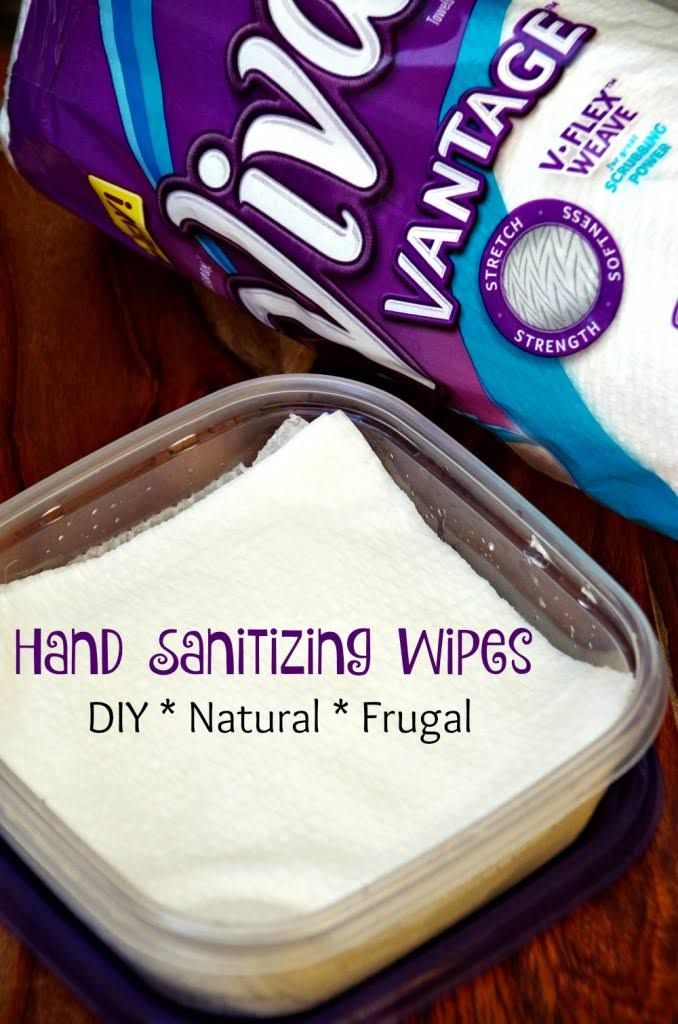 Easy Diy Hand Sanitizing Wipes Homemade Wipes Cleaning Wipes
