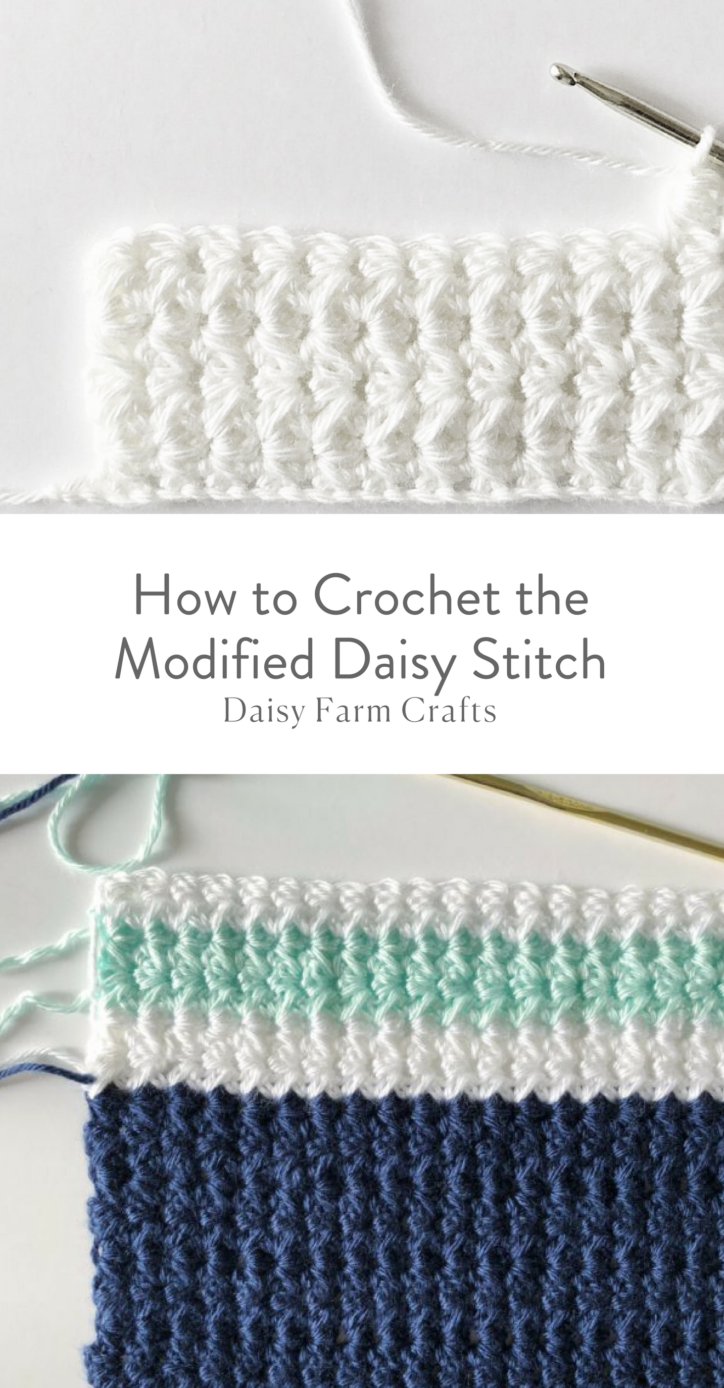 How to Crochet the Modified Daisy Stitch | Daisy Farm Crafts ...