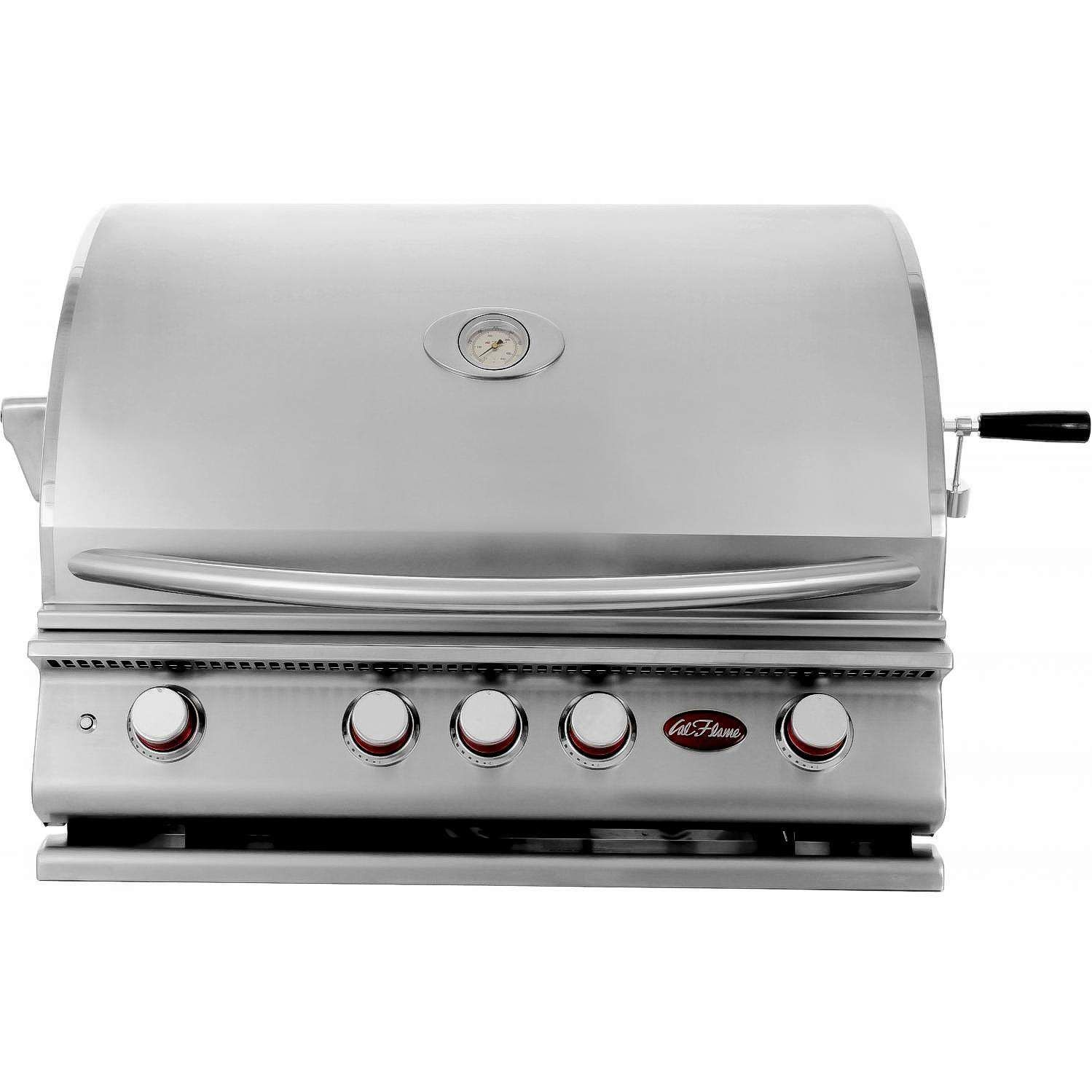 Cal Flame P4 32 4 Burner Built In Propane Gas Bbq Grill With Rotisserie Bbq18p04 Propane Gas Grill Cal Flame Built In Gas Grills