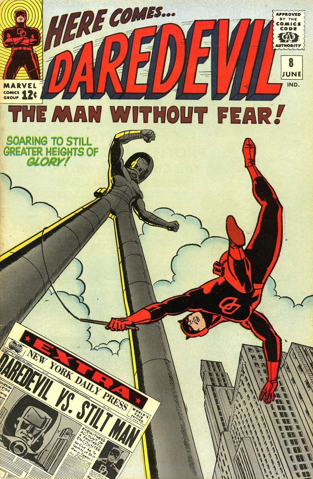 Daredevil 8 june 1965 cover by wally wood daredevil