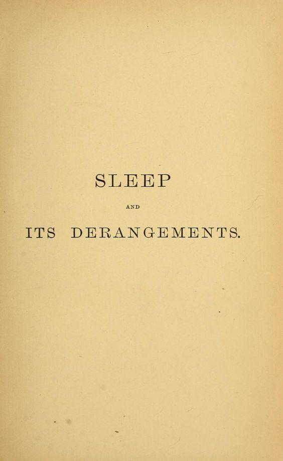 Nemfrog: Good night. Sleep and its derangements. 1869. Title page. - #bedtime #enfmrog #good #health #hygiene #night #sleep #word