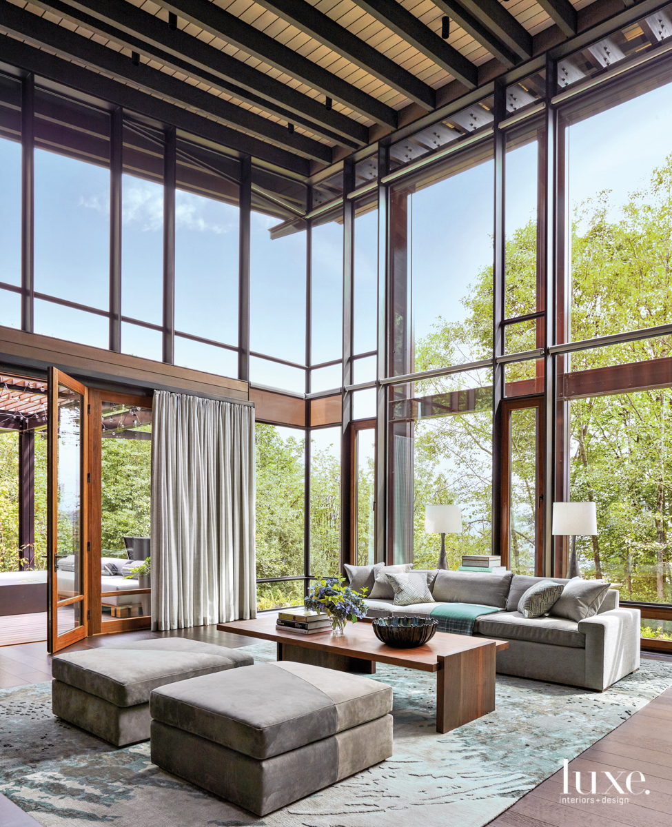 In A Pacific Northwest Home Natural Beauty And Architectural Details Triumph To Create A Dream Retreat Luxe Interiors Design In 2020 Luxe Interiors Architecture Architecture Details