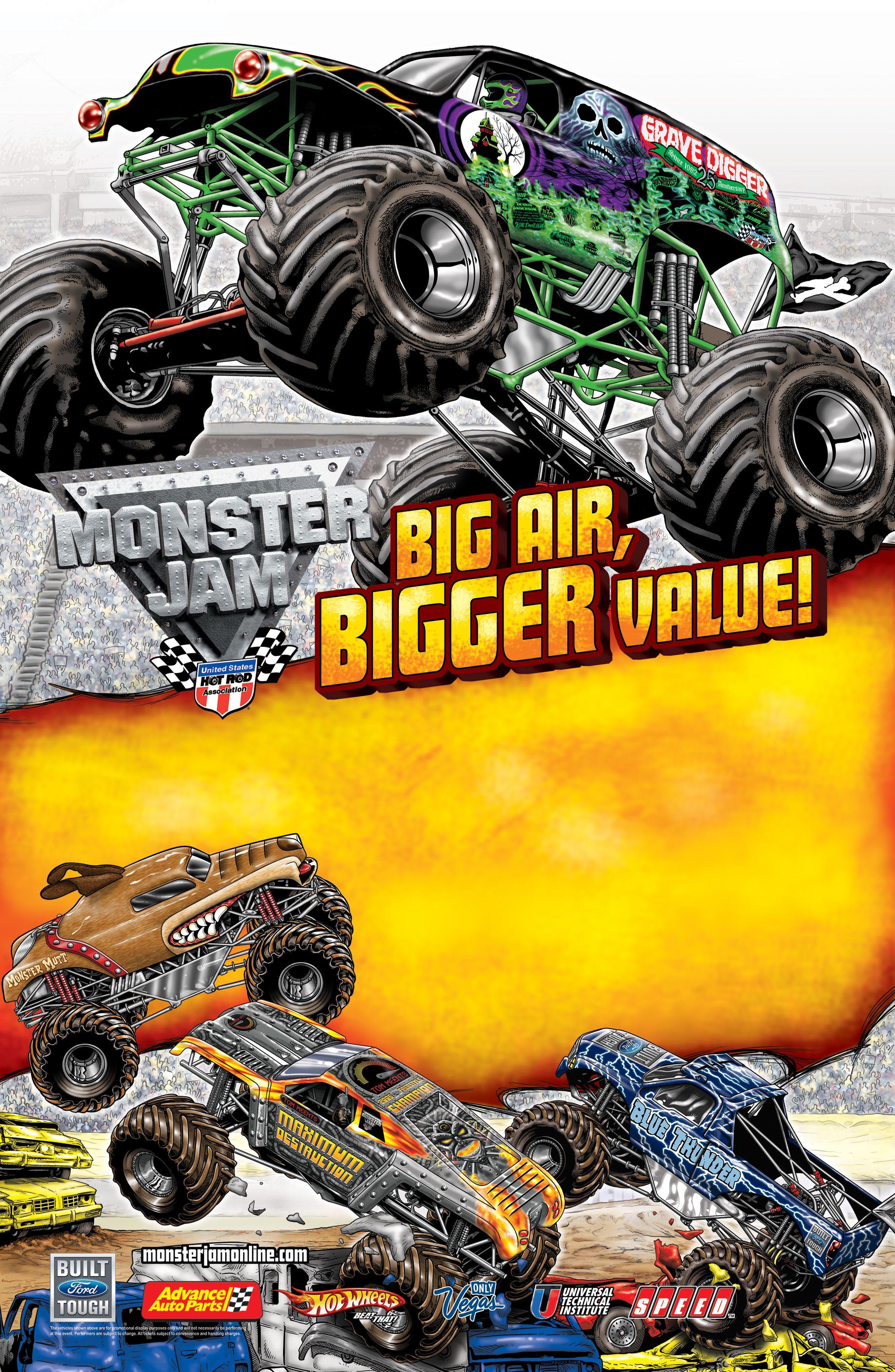 Monster Jam   Posters (Past Shows)   Pinterest   Monster jam